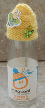 Innocent Smoothies Big Knit Hat Patterns Bee Hive, Bee Button