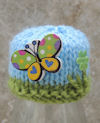 Innocent Smoothies Big Knit Hat Patterns - Butterfly Pattern