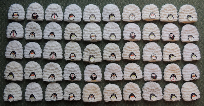 Innocent Smoothies Big Knit Hat Patterns Penguin Igloo button