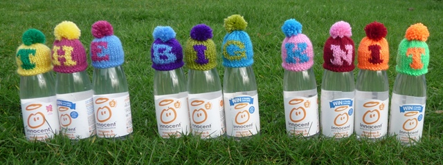 Innocent Smoothies Big Knit Hats - Alpahabet
