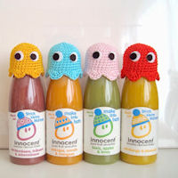 Innocent Smoothies Big Knit Hat Patterns - Crochet Pac Man
