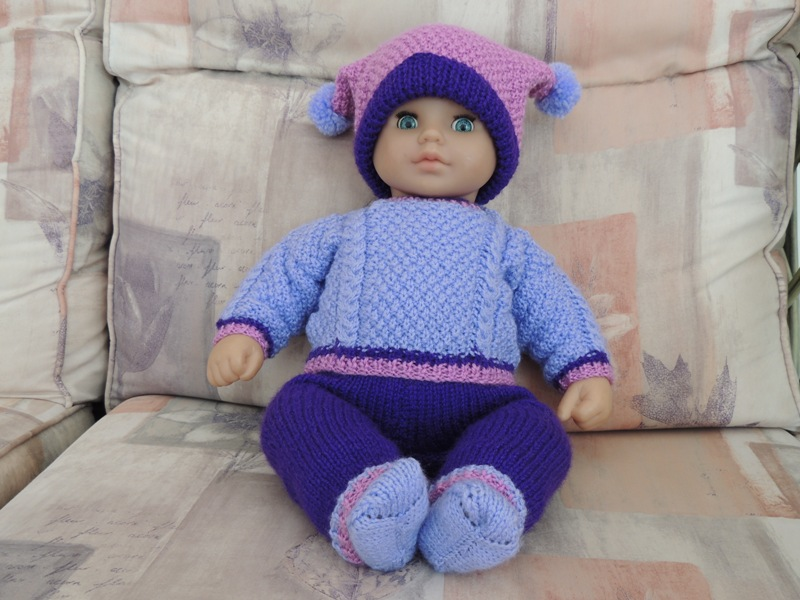 Doll's Clothes - Purple Outfit