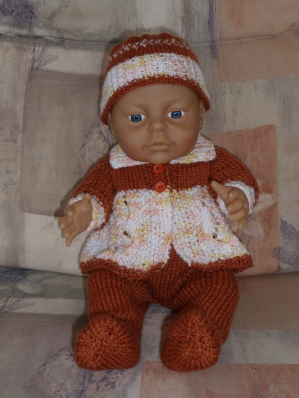 Doll's Clothes - Brown Outfit