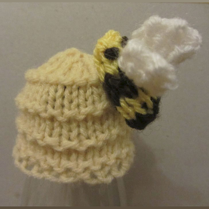 Innocent Smoothies Big Knit Hat Patterns - Beehive