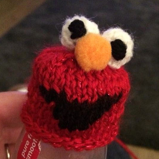 Innocent Smoothies Big Knit Hat Patterns - Elmo
