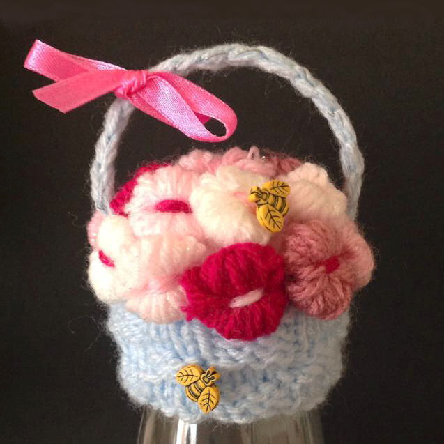 Innocent Smoothies Big Knit Hat Patterns - Flower Basket