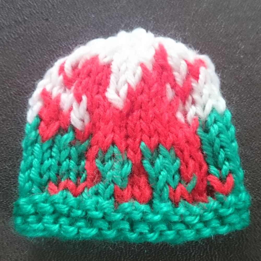 Innocent Smoothies Big Knit Hat Patterns - Welsh Wales Dragon